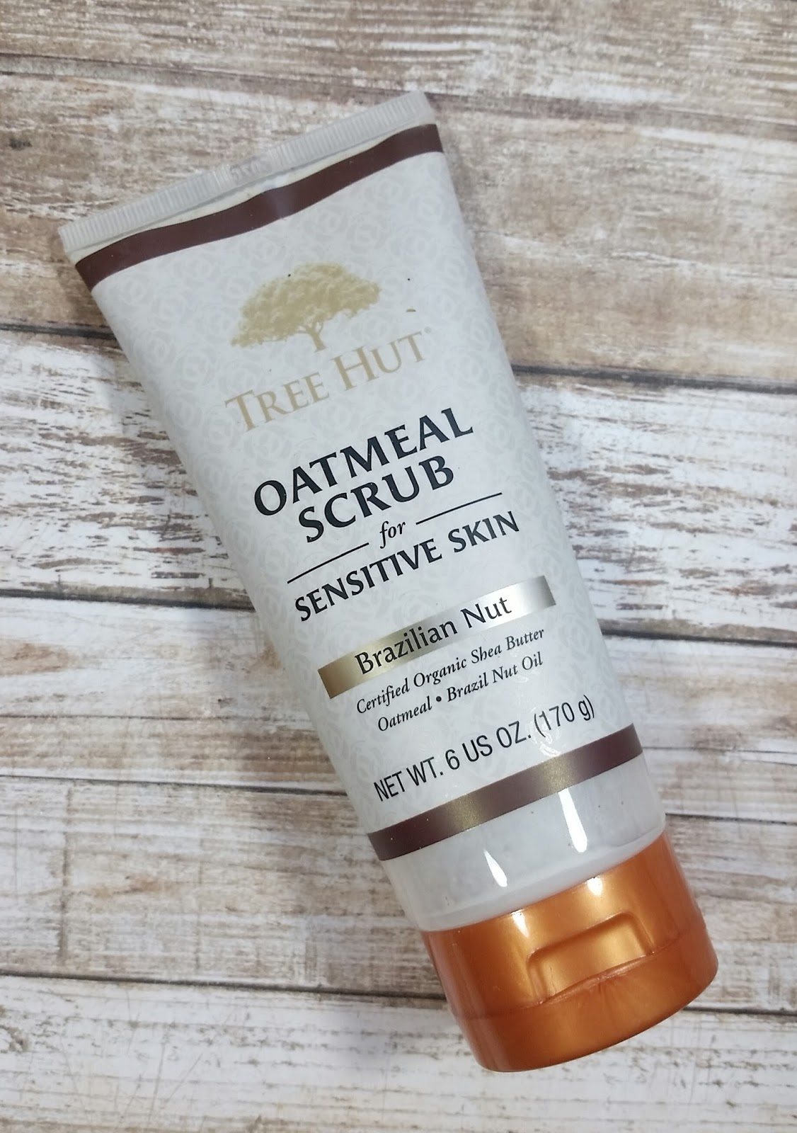 Tree Hut Oatmeal Scrub for Sensitive Skin