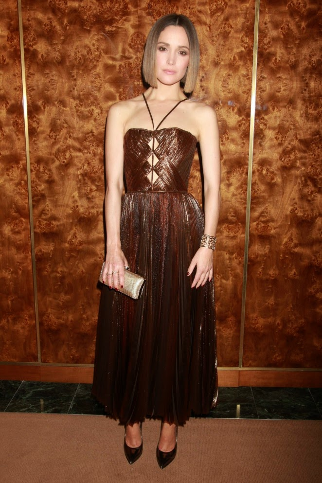 Rose Byrne dazzles in a bronze dress at the 'You Can't Take It With You' Opening Party in New York