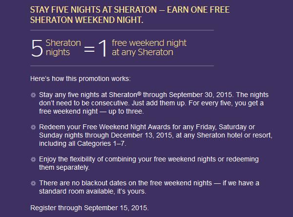 darmowa noc w Sheratonie, blog o hotelach