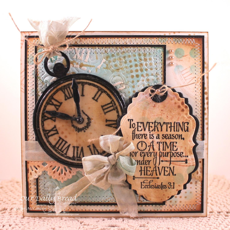 Stamps - Our daily Bread Designs God's Timing, ODBD Custom Matting Circles Dies, ODBD Custom Circle Ornaments Dies, ODBD Vintage Labels Dies, ODBD Custom Beautiful Borders Dies
