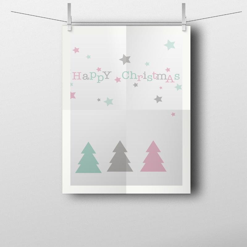 Descargable gratuito de postales navideñas: diseño de Habitan2