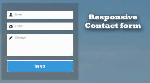 Flat Responsive Form Usando CSS3 & HTML5