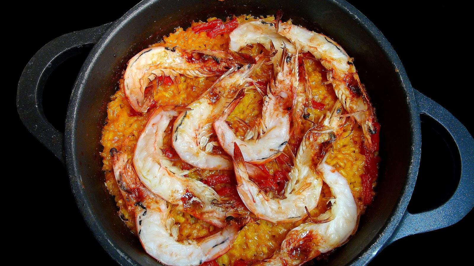 Cocinar para los amigos arroz con langostinos for Cocinar para los amigos