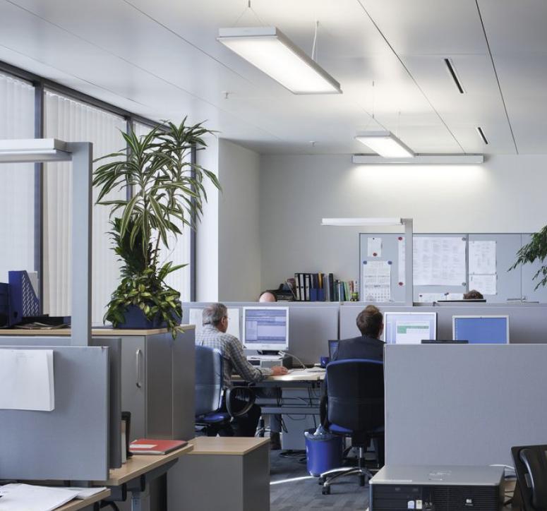 Como iluminar la oficina el in genio de las l mparas for Iluminacion led oficinas
