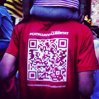Ens ho carreguem a l'esquena, ho portem al pit: #catalunyavolviureenllibertat! #catalunyallibertat