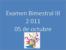 Examen Tercer Bimestre- 2 011