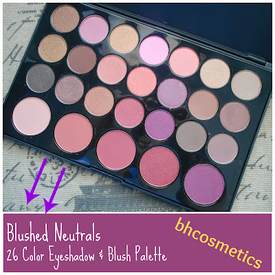 bhCosmetics Blushed Neutrals 26 Color Eyeshadow & Blush Palette