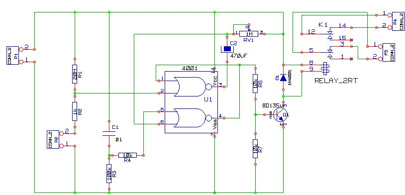 alarm circuit for motorcycle using cd4001