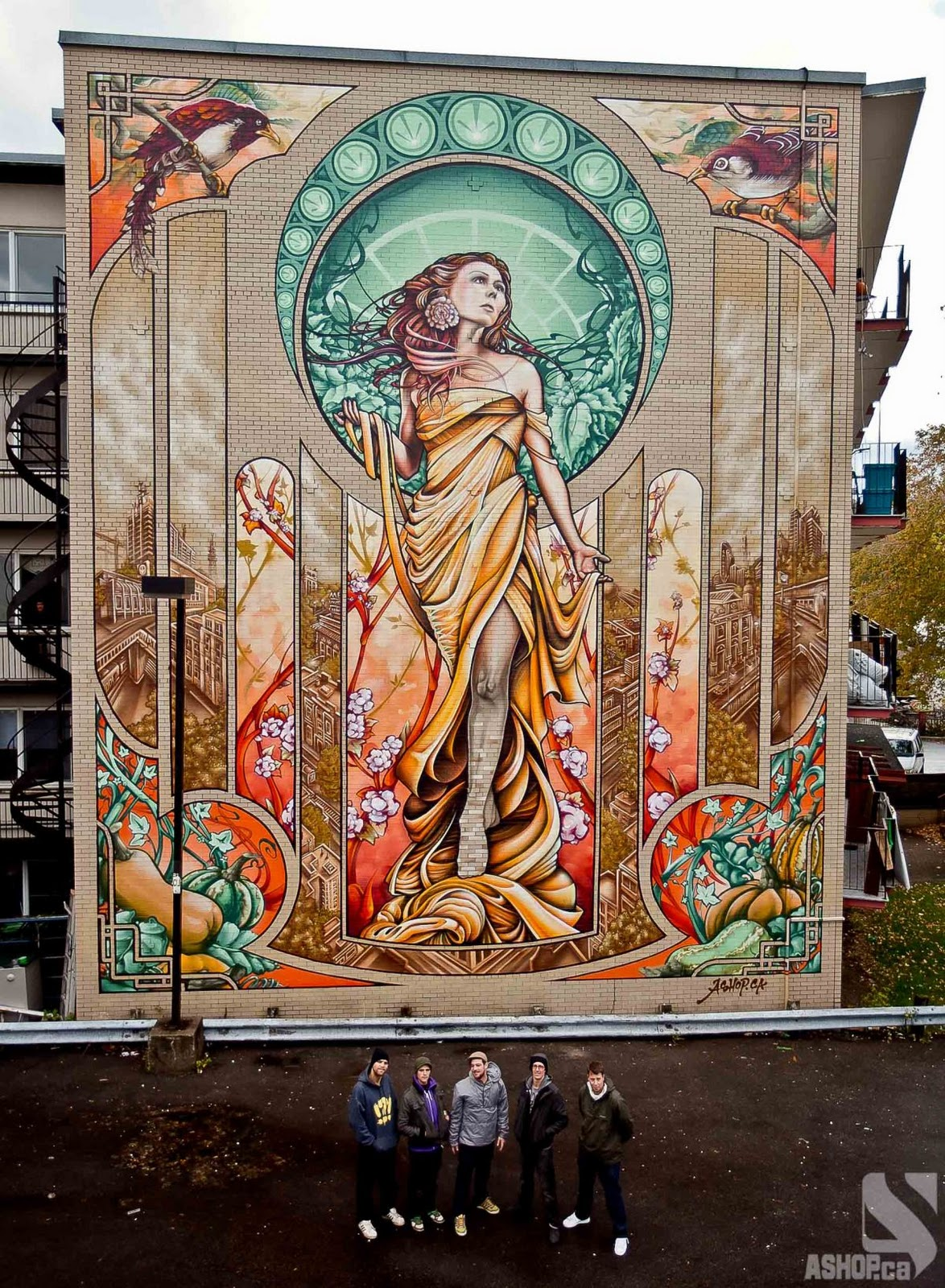 Arts and facts episode 24 art nouveau for Art mural montreal