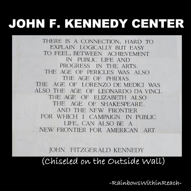 photo of: JFK quote on the importance of the Arts
