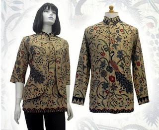 Model Baju Seragam Kerja Batik Kantor Desain Terbaru