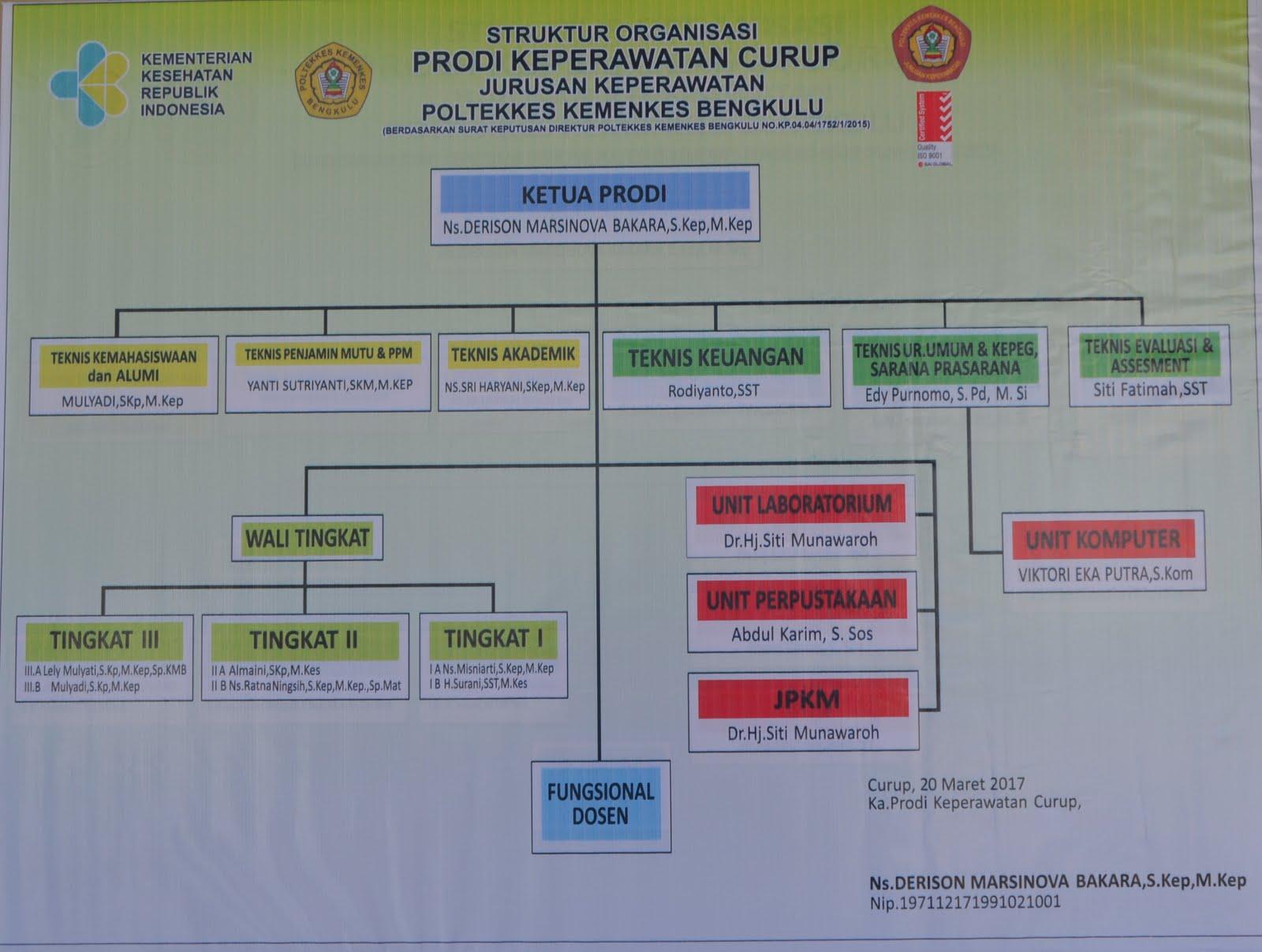 Struktur Organisasi DIII Keperawatan Curup