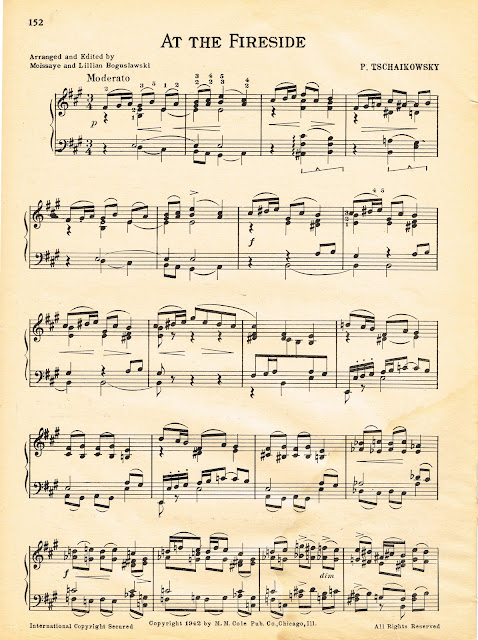 At the Fireside Royalty Free Printable Christmas Sheet Music via Knick of Time