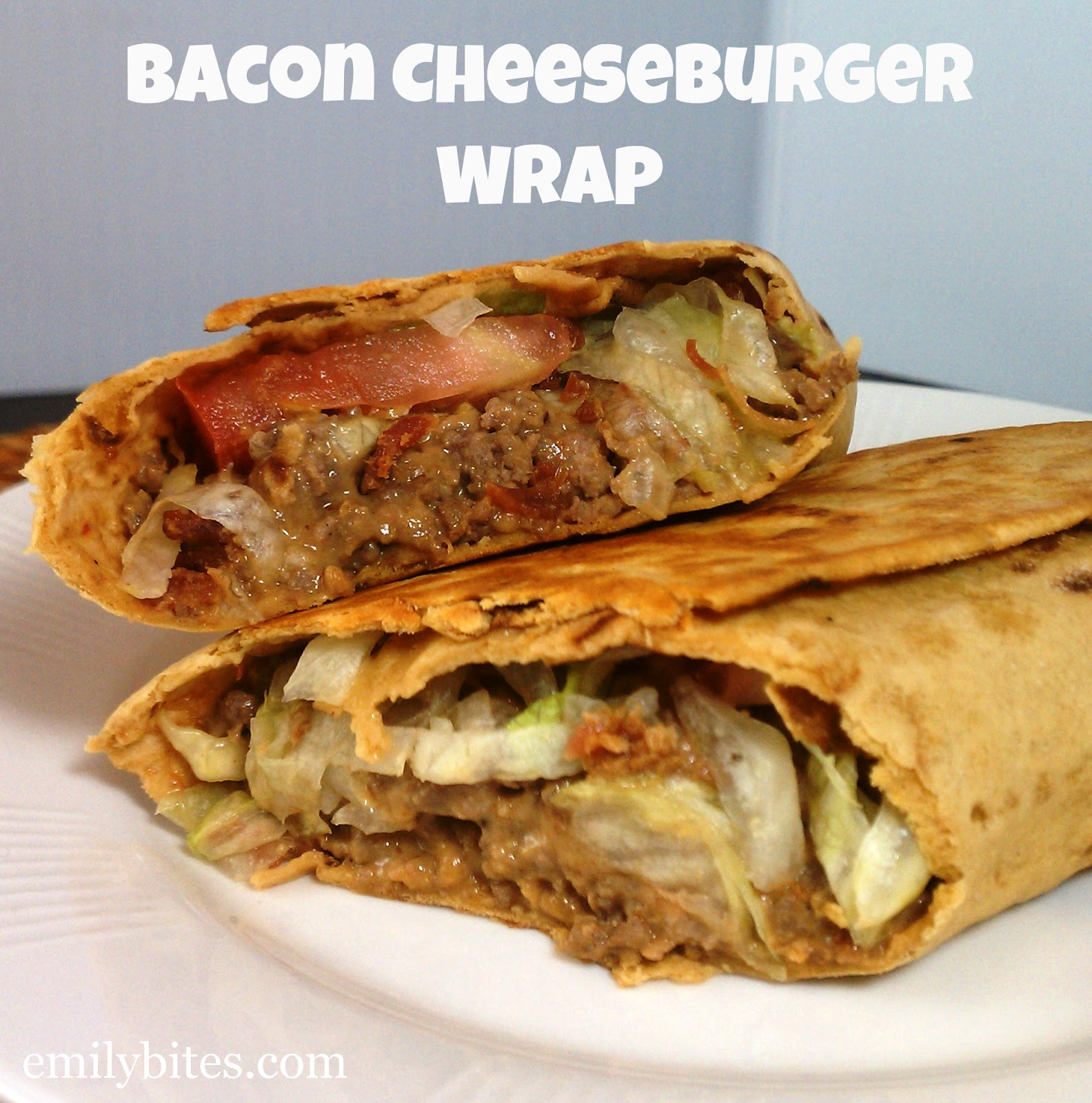 bacon cheese burger wrap