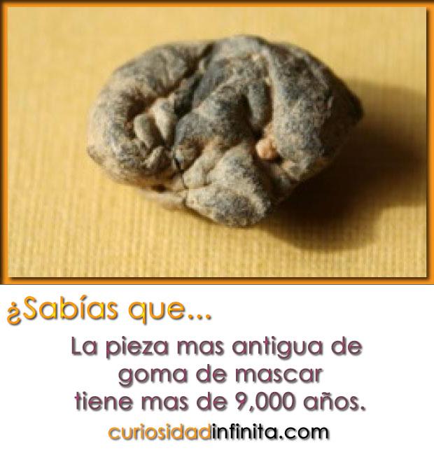 La goma de mascar más antigua tiene 9000 años