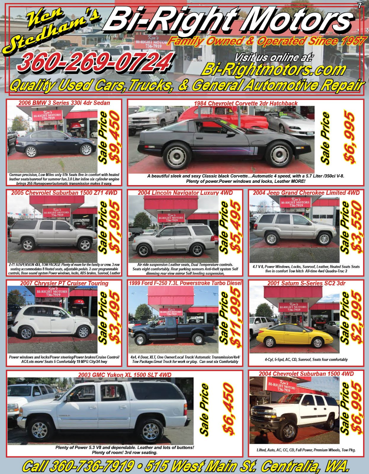 Ken Stedham's Bi-Right Motors Family Owned & Operated Since 1957