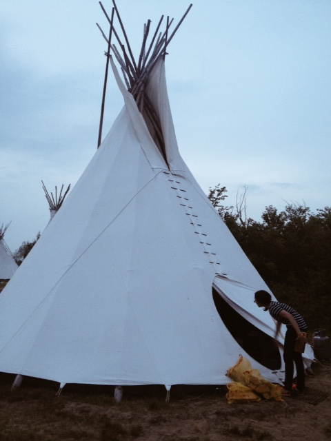 Tipi that we used that time & De Kluut Island - Rona Pradipta