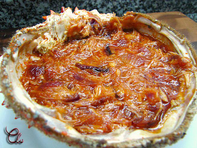 Las recetas de loli merluza rellena de centollo for Cocinar un centollo