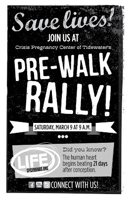 Pre-Walk Rally 2013 - March 9 at 9 a.m.