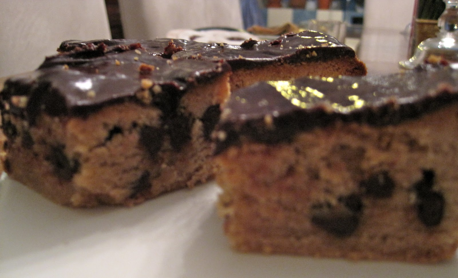... kitchen: Peanut Butter Chocolate Chip Brownies with Chocolate Ganache