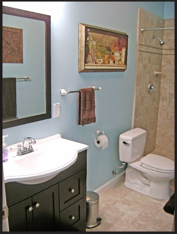 Basement bathroom design for Finished bathroom ideas