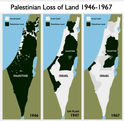 How Palestine has dwindled as it has been increasingly grabbed by Israel from its Arab Owners