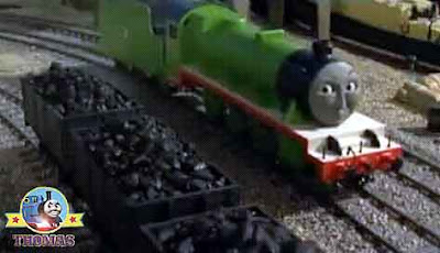 Island of Sodor Brendam docks Thomas and friends Henry's special coal trucks and the castle flagpole