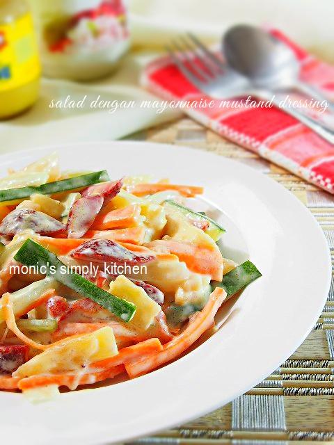 salad buah dressing mayonnaise