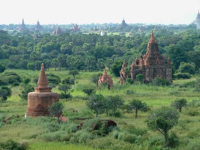 Pagan, the thousand pagodas plain  in Myanmar