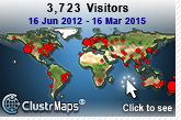 Visitors between June 2012 and March 2015