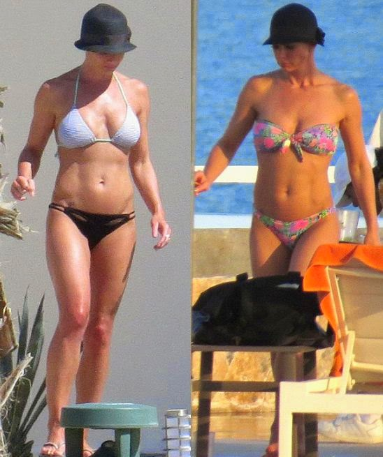 As the summer fades into the great memory, it's time to spare a though for those style mavens on perpetual holidays, and take inspiration from the extensive summer two-piece. Take Jaime Pressly for example, flaunting her perfect anatomy on related sunny trip in Cabo San Lucas, Mexico on Wednesday, July 16, 2014 with EXTREMELY lucky boyfriend Hamzi Hijazi.