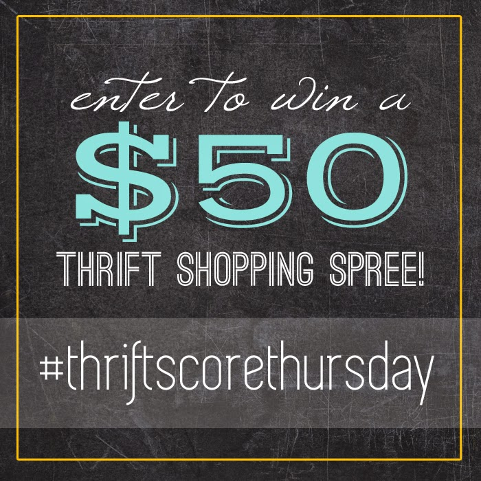 #thriftscorethursday turns one year old!! We're celebrating with a $50 thrift store shopping spree | www.blackandwhiteobsession.com