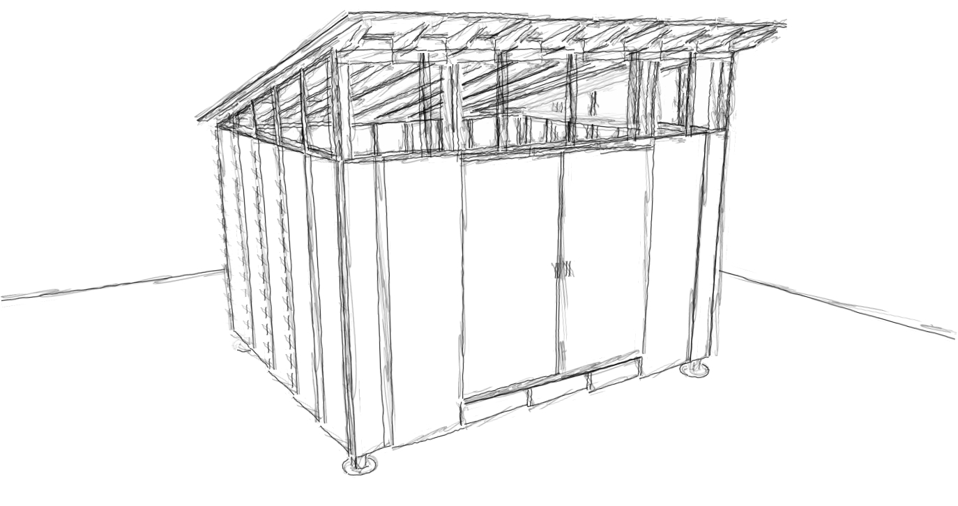 Roof shed design deck with barbecue shed for How to build a sloped roof shed