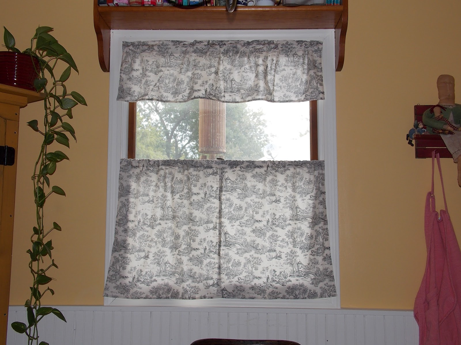Cafe curtains for bathroom - Our Eclectic Life Pretty Quick Sew Yourself Kitchen Cafe Curtains