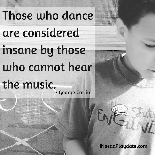 Those who dance are considered insane by those who cannot hear the music. - George Carlin | @mryjhnsn