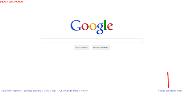 Change Google Background