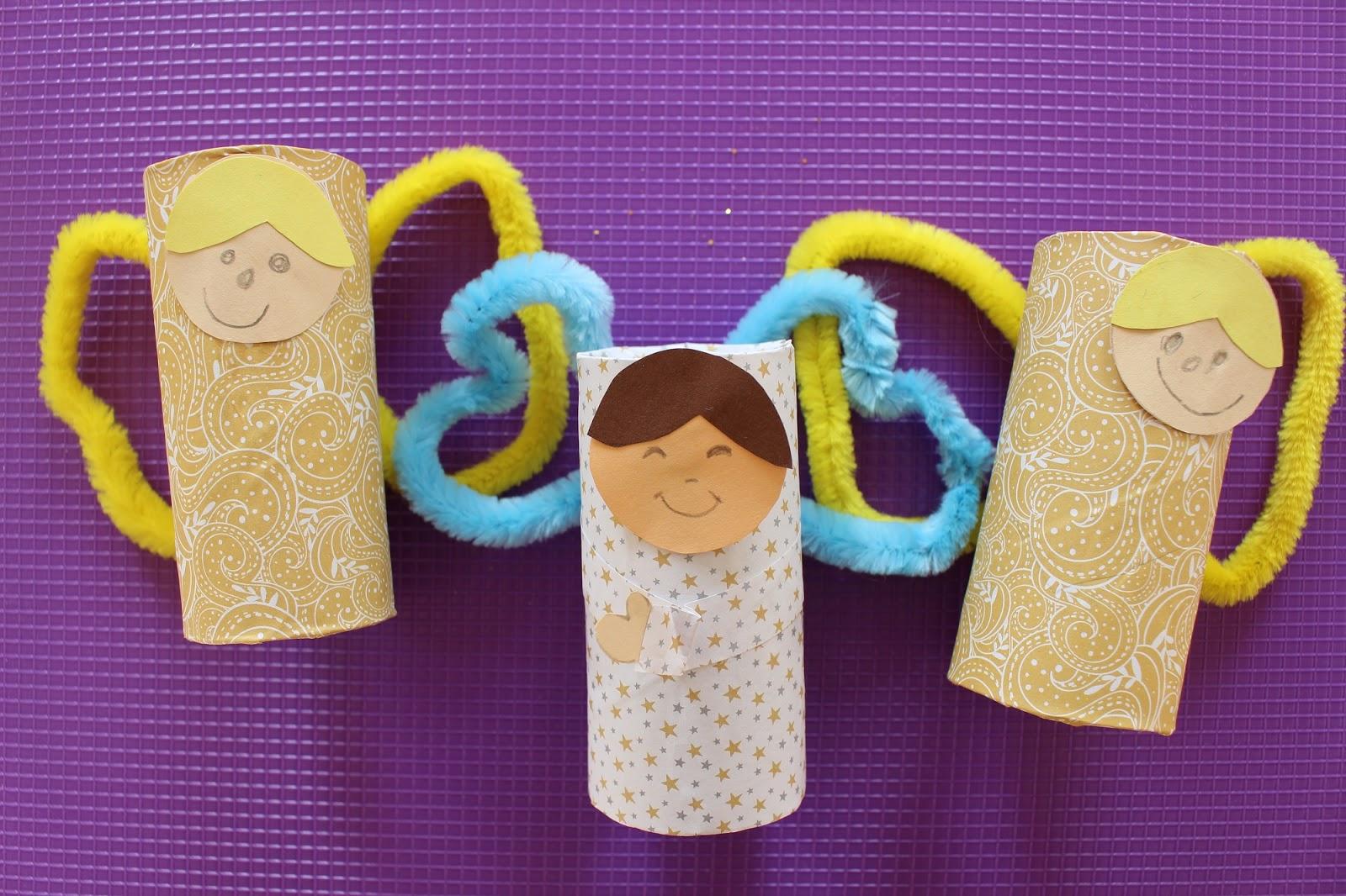 Rotoli Di Carta Igienica Lavoretti Natale : Mamma gioca angioletti con i tubi di cartone