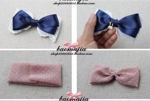 Как сделать бантик на волосы из ткани своими руками