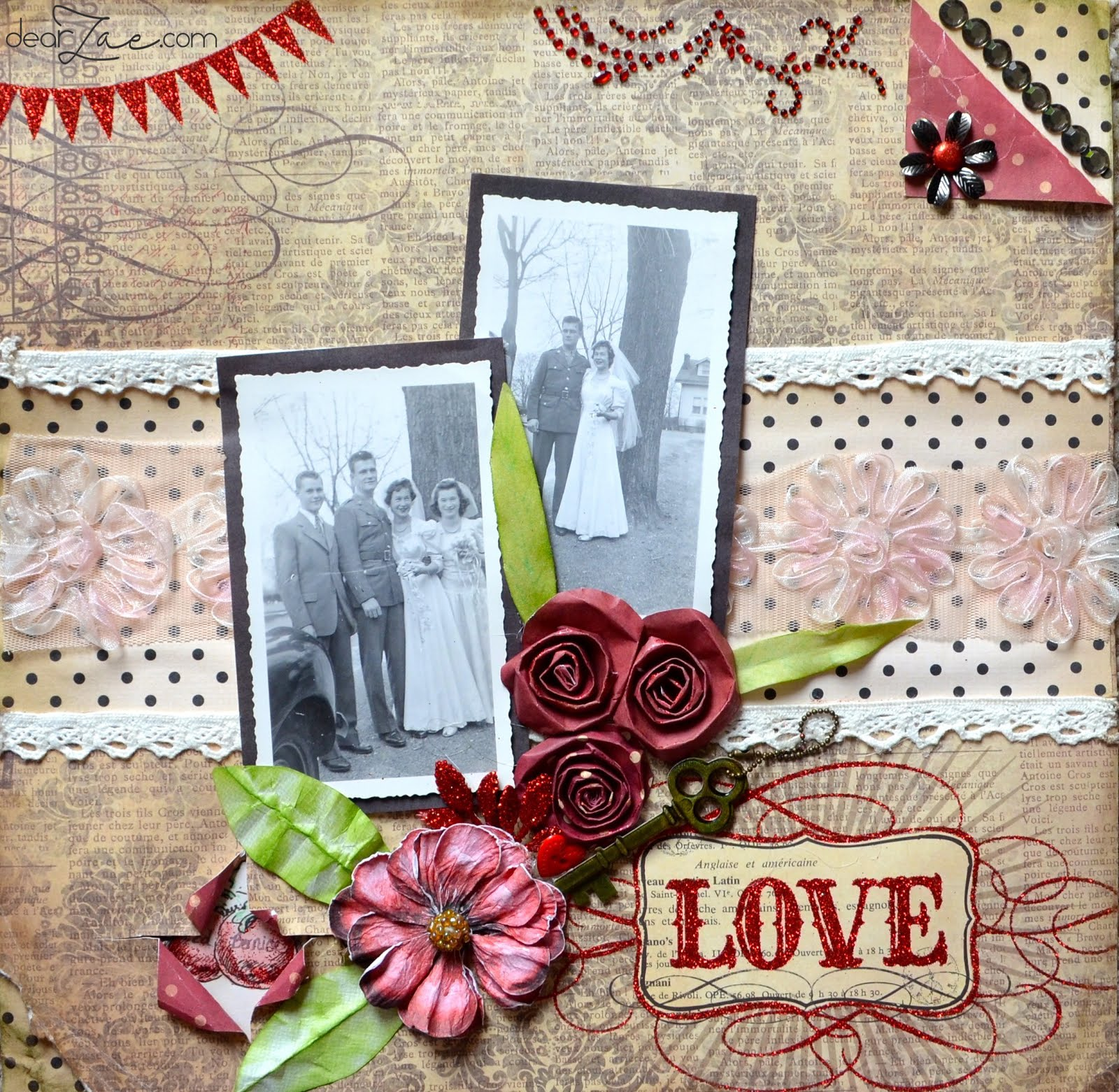 Scrapbook ideas romantic - Love Story