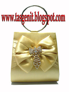 tas pesta gold clutch bag