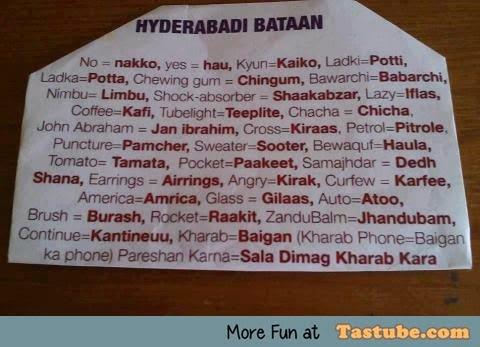 Hyderabadi Hindi