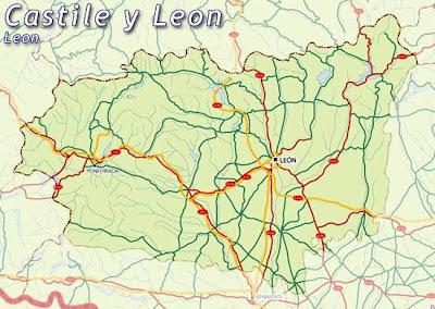 León Mapa Ciudad de la Región