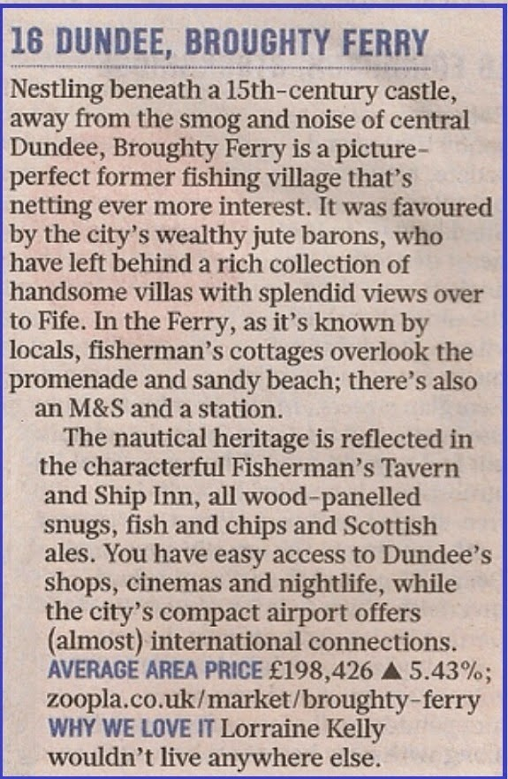 Description of Broughty Ferry in Sunday Times Best Places to Live 2015