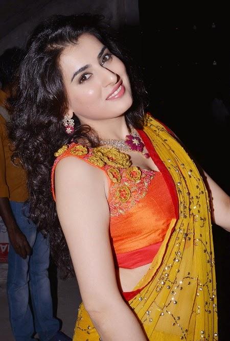 Archana In Yellow Saree Latest Photos