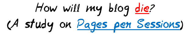 How will my blog die? (Pages per Sessions) MohitChar