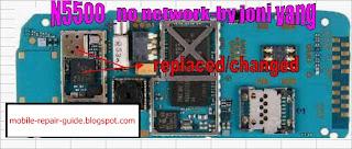 nokia 5500 no network problem