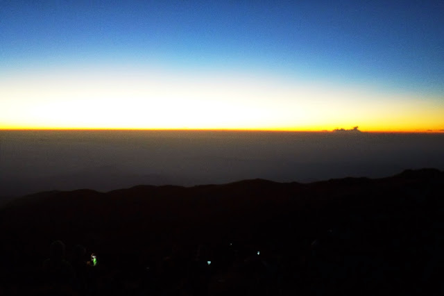 before sunrise at Mt. Pulag