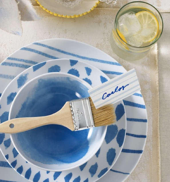 Adore this Mediterraneaninspired table settingreminds me of the Amalfi