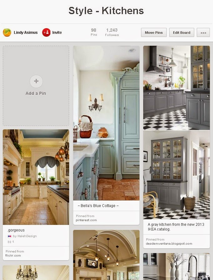 kitchen design pins on Pinterest for business to showcase