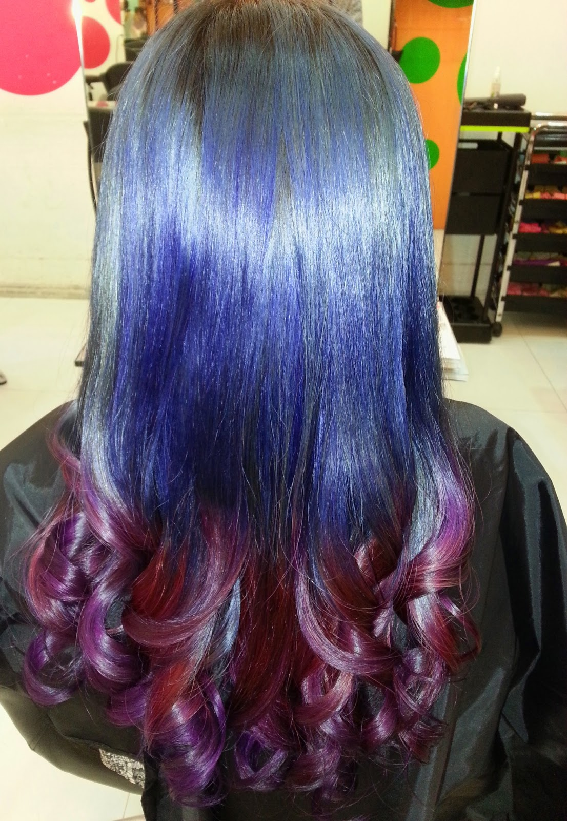Red Purple Ombre Hair That's the coolest hair colour